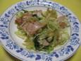 セロリとキャベツとハムの炒め物