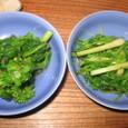 せりと菜の花のおひたし(400円)