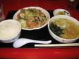 マルキ屋の野菜炒め定食