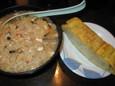 なごみの韓国風雑炊と出汁巻き玉子