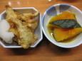 さんまの天ぷらとかぼちゃ煮