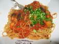 プチロブスターと茄子のトマトスパゲティ