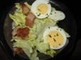 唐揚げと玉子のサラダ
