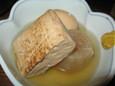 おでんの焼豆腐(160円)、玉子(110円)、大根(140円)