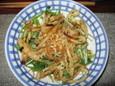 晩飯その2(水菜とじゃこのサラダ)