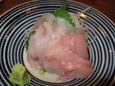 ほうぼうの刺身(600円)