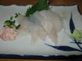 カワハギの刺身(650円)