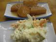 ポテトサラダ(250円)、大根の煮(200円)