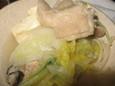 鶏肉とカキの鍋