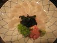 カワハギの刺身(480円)
