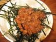 肉味噌のせご飯(150円)