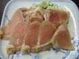 赤鶏のたたき(350円)