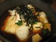 おぼろ豆腐とおもちの揚げだし(480円)