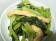 油揚げと菜っ葉の煮物