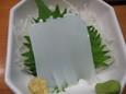 ヤリイカの刺身(250円)