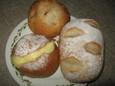 コッペパン(130円)、自家製カスタードクリームパン(150円)、豆のカレーパン(170円)