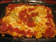 サラミとコーンのピザ(580円)