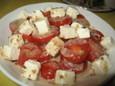 プチトマトとクリームチーズのサラダ