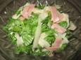 わさび菜と大根のサラダ