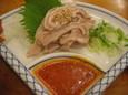 豚ガツ刺(370円)