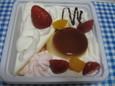 苺のショートケーキアラモード(350円)