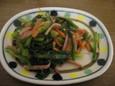 小松菜とハムのバター炒め(180円)
