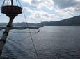 遊覧船からの景色