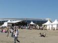 海岸からビーチステージを