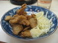 鶏皮の唐揚(200円)
