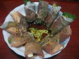 アボカドとクリームチーズの生ハム巻