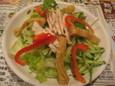 蒸し鶏と油揚げの棒棒鶏サラダ(280円)
