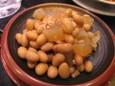 つぶ貝と大豆の煮物(210円)