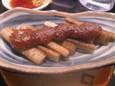 ゴボウ豚みそ焼(168円)