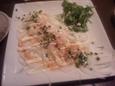 真鯛のカルパッチョ(680円)
