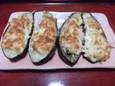 茄子のささみマヨチーズ焼き