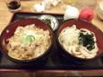 ミニ親子丼ミニうどんセット(500円)