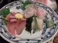 真鯛、ハマチ刺し(580円)