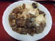 馬スジ煮豆腐玉子とじ
