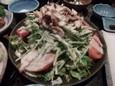 水菜のベーコンシーザーサラダ(580円)