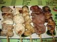 百炎鶏の串焼き