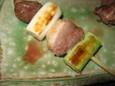 鴨ロース串焼き 柚子胡椒添え(950円)