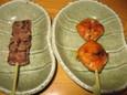 桜肉(190円)、うまかカラシ棒(160円)