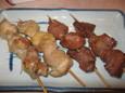 焼鳥、カシラ(120円)