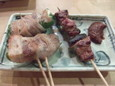 ピーマンチーズ豚巻き(190円)、とんみそ(100円)